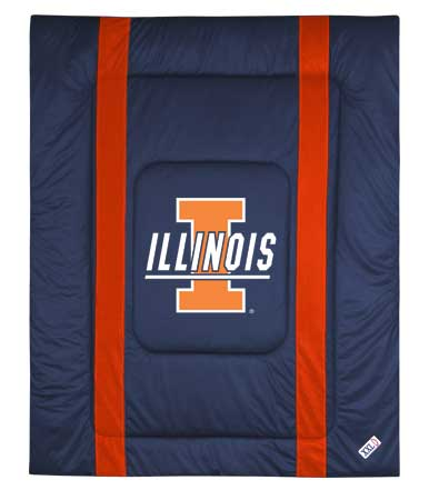 Family Bedding - Illinois Fighting Illini Bedding   NCAA Sidelines Comforter