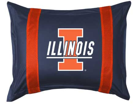 Family Bedding - Illinois Fighting Illini Sham   Sidelines Design