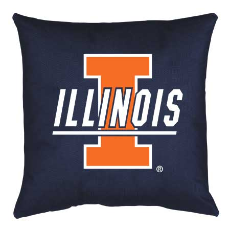 Family Bedding - Illinois Fighting Illini Locker Room Toss Pillow