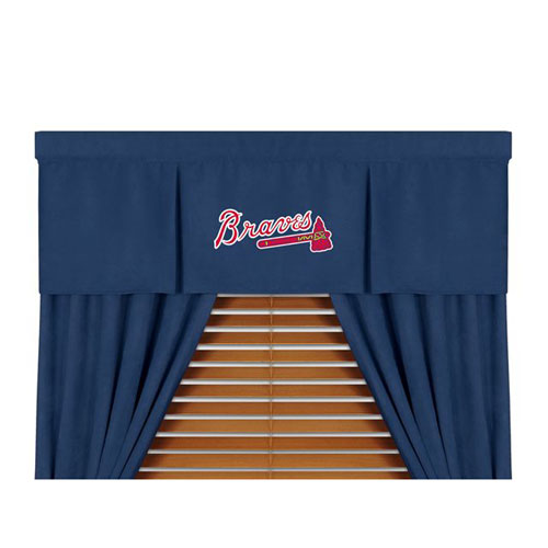 Family Bedding - MLB Atlanta Braves MVP Micro Suede Valance
