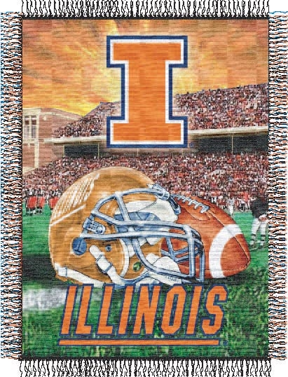 "Family Bedding - Northwest Illinois Fighting Illini ""Home Field Advantage"" Tapestry Throw"