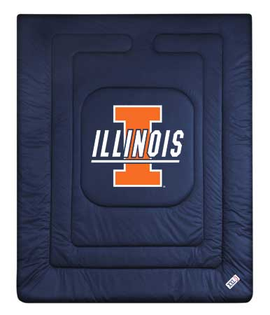 Family Bedding - Illinois Fighting Illini Bedding   NCAA Comforter