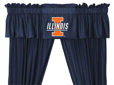 Family Bedding - Illinois Fighting Illini Valance